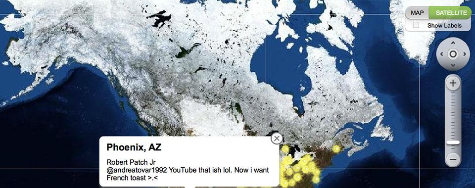 Google Maps Twitter Mash Up